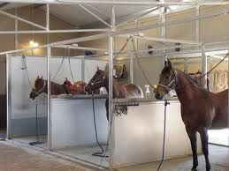 High Cross Ties In The Groom And Wash Stalls