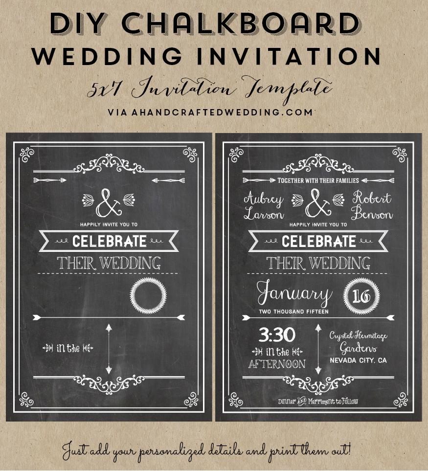 FREE Printable Wedding Invitation Template | Free wedding invitation ...