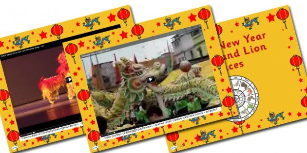 chinese new year dragon and lion dance videos powerpoint | chinese, Powerpoint templates