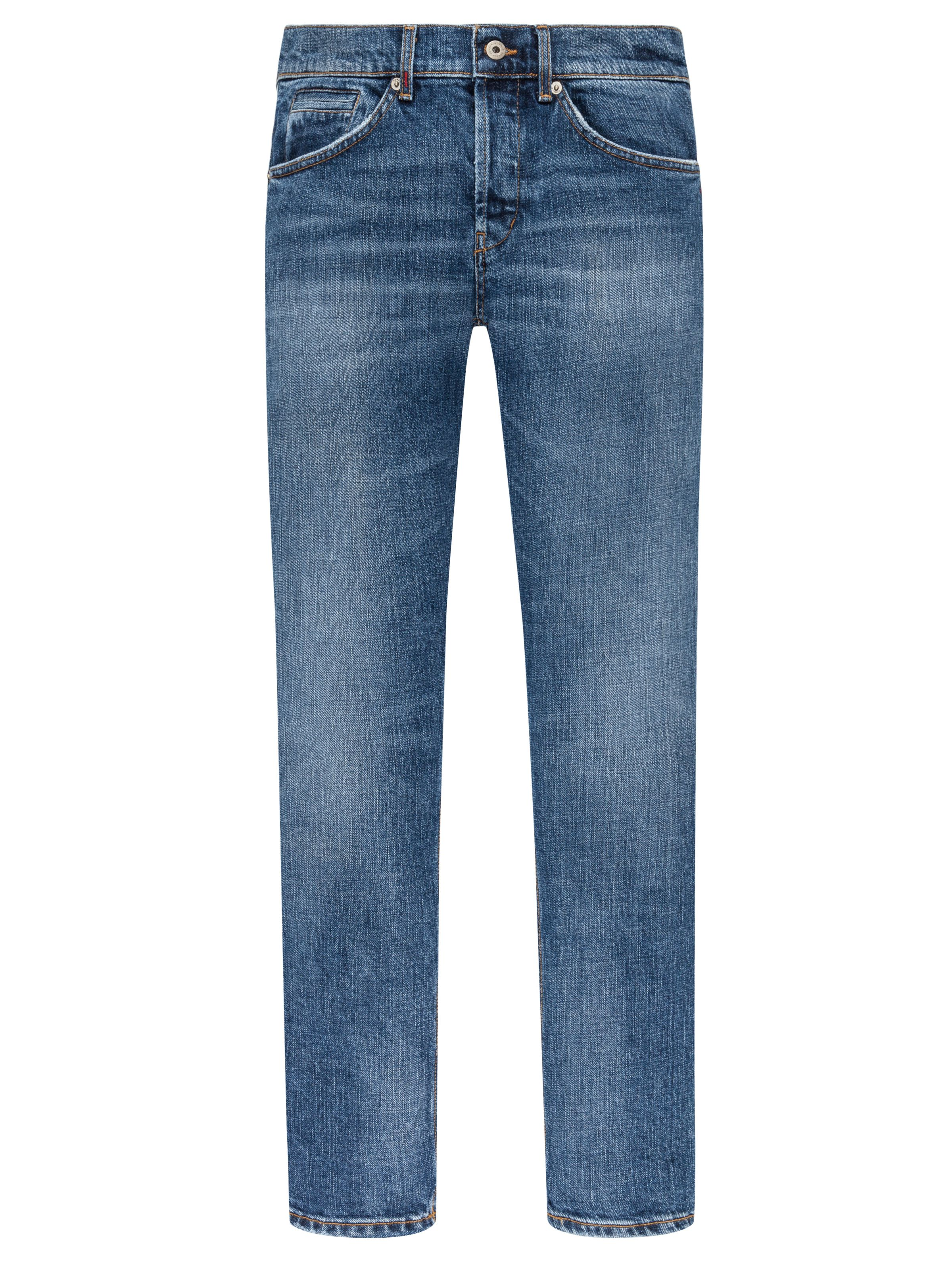 Herren Regular Fit Jeanshose Straight Cut Denim Qualität Braun Slim  Stonewashed 497dcbd658