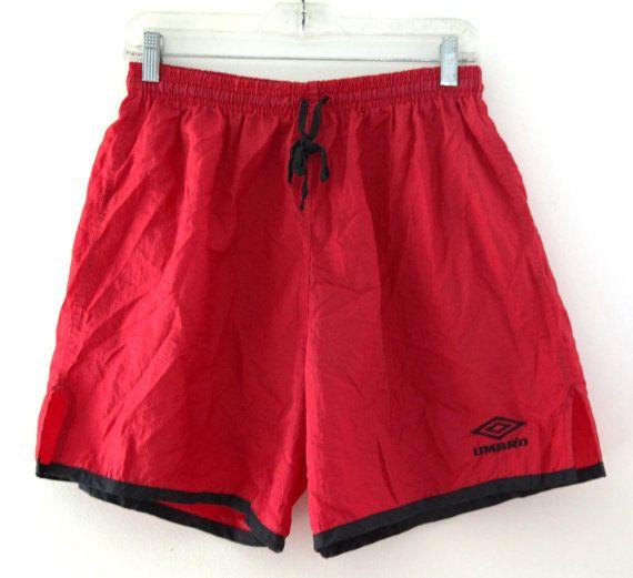 811d6b599c Vintage 80s 90s UMBROS soccer shorts red black Soccer Shorts, Under Armour  Girls, My