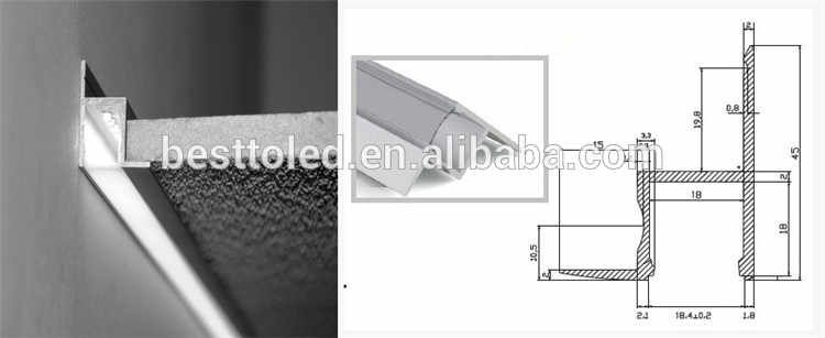 Source China Wall Edge Corner Recessed Illumination Led Aluminum Profile Channel For Cove Lighting On M Alibaba C Cove Lighting Led Aluminum Profile China Wall