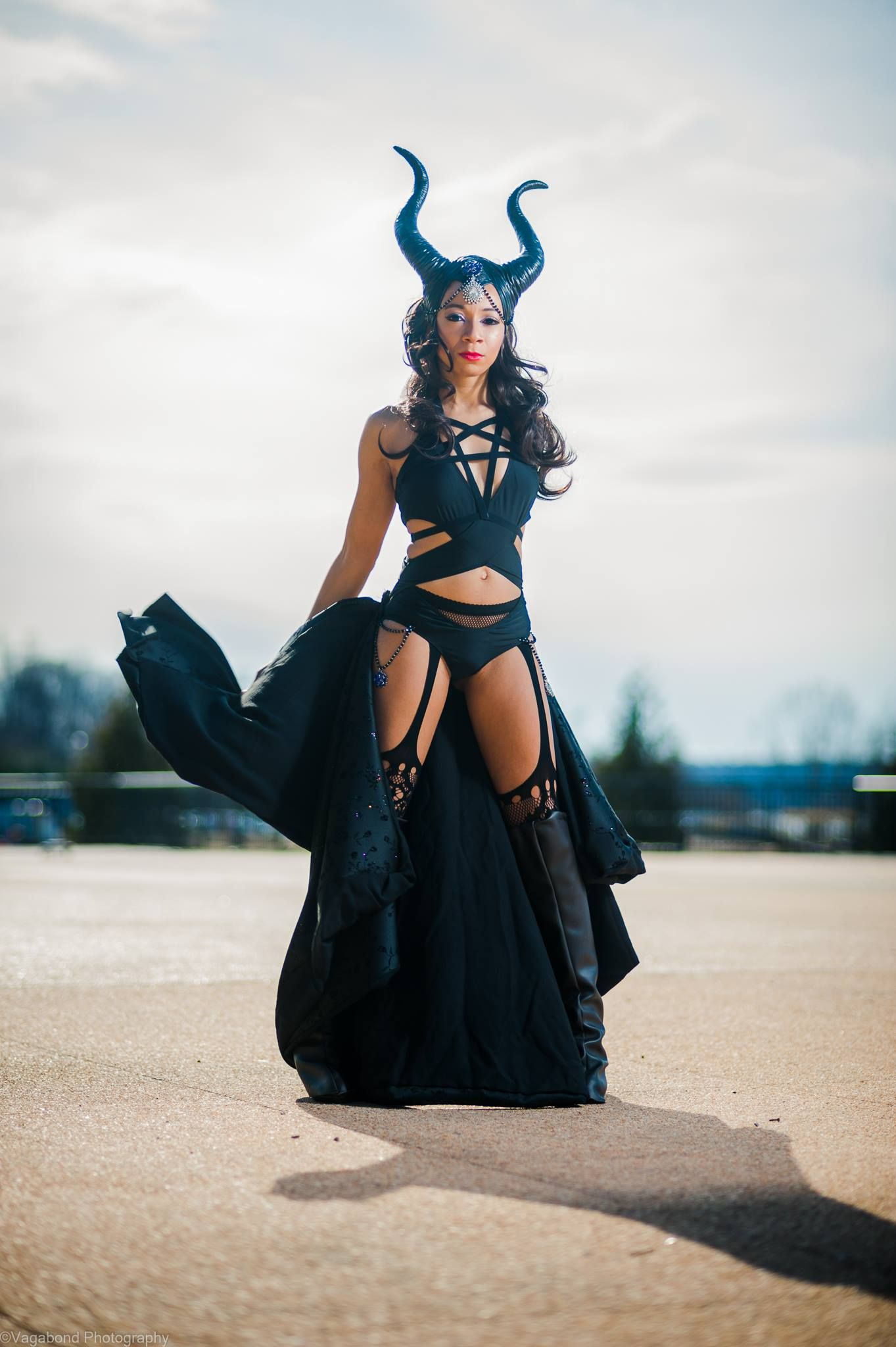 poster of maleficent cosplay modeled by the ever lovely jazzmin