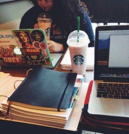 study, friend, coffee