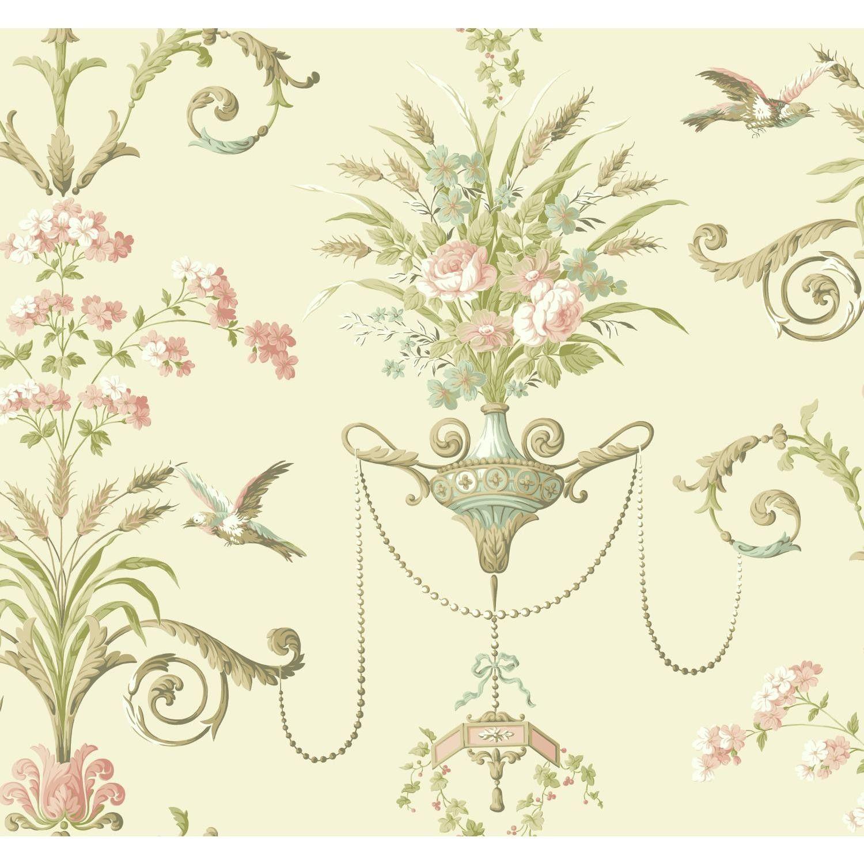 York Wallcoverings Normandy Manor 27 X 27 Floral Roll Wallpaper Discount Wallpaper Wallpaper Victorian Wallpaper