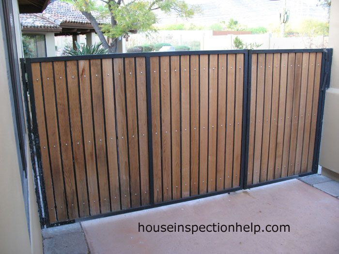 Steel Framed Wood Gate Home Projects In 2019 Wooden Gates