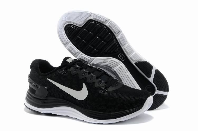 Nike LunarGlide 5 Shield Black Reflective Silver Summit White Men's Shoes