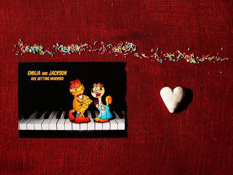 Maringoo Wedding Invitation Front Start You Magical By Making Garfield Part Of Your