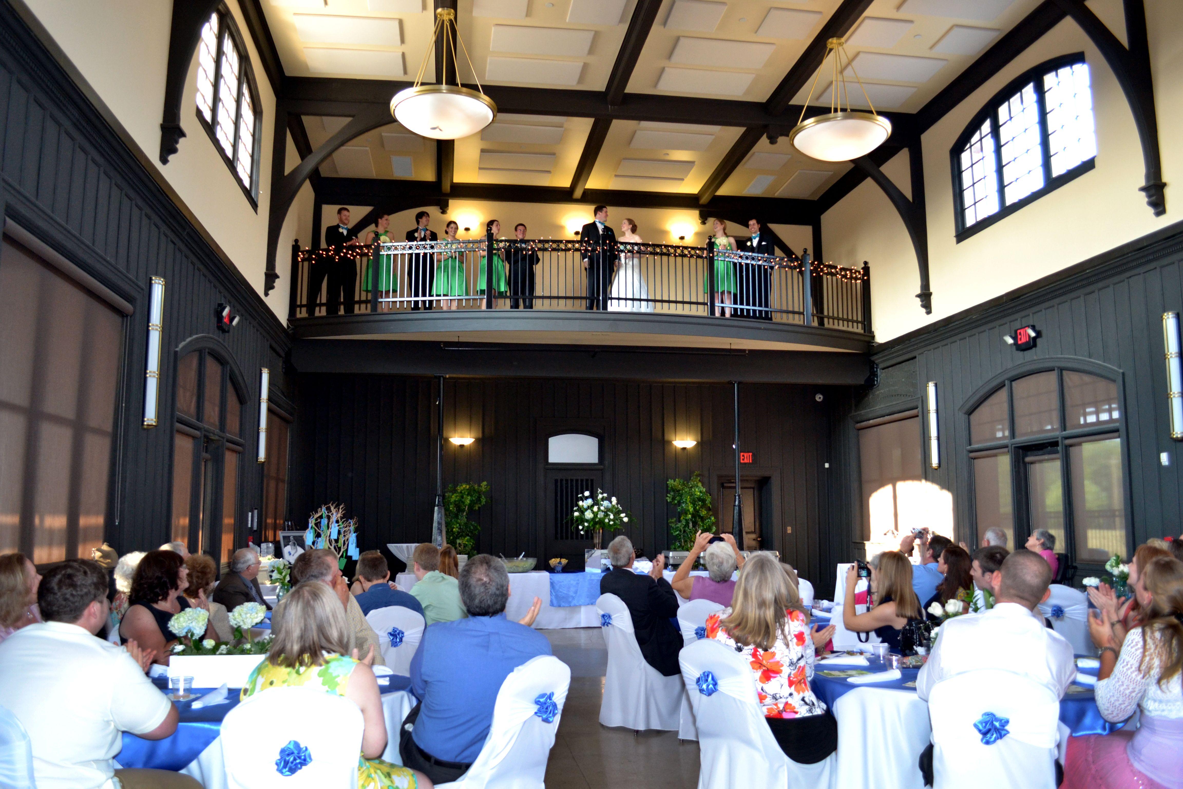 Wedding Reception Balcony | Bristol Train Station In Bristol, VA | Photo By  Thompson Artworks