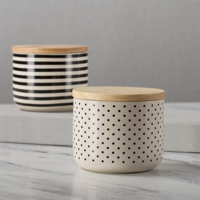 2 Piece Kitchen Canister Set Kitchen Canister Sets Kitchen Canisters Ceramic Kitchen Canisters