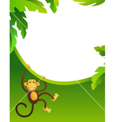 frame with monkey vector - Monkey Picture Frame