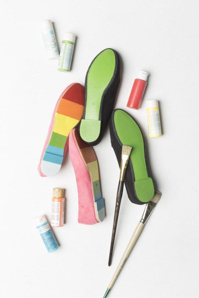 DIY painted shoes for St. Patrick's Day