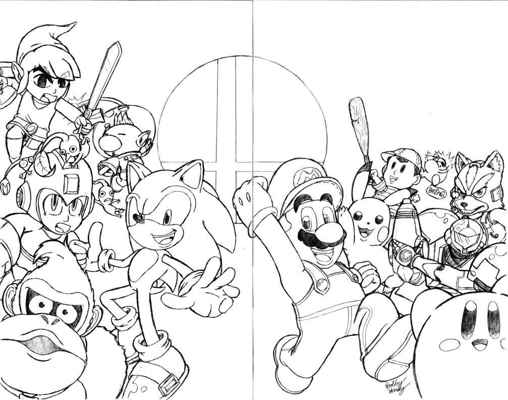Super Smash Brothers Coloring Pages Free Printable Super Smash Bros Brawl Coloring Pages Super Coloring Pages