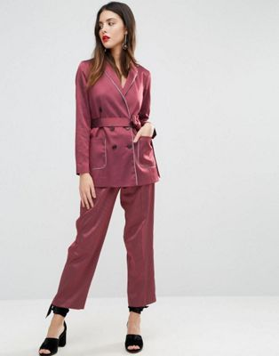 b75f7a203c65 ASOS Piped Stripe Pyjama Suit | Party Pants in 2019 | Pajama suit ...