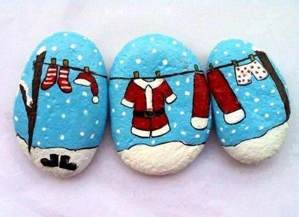 100 kreative Ideen für Steine bemalen in Weihnachtsstimmung! - Alleideen #steinebemalenanleitung
