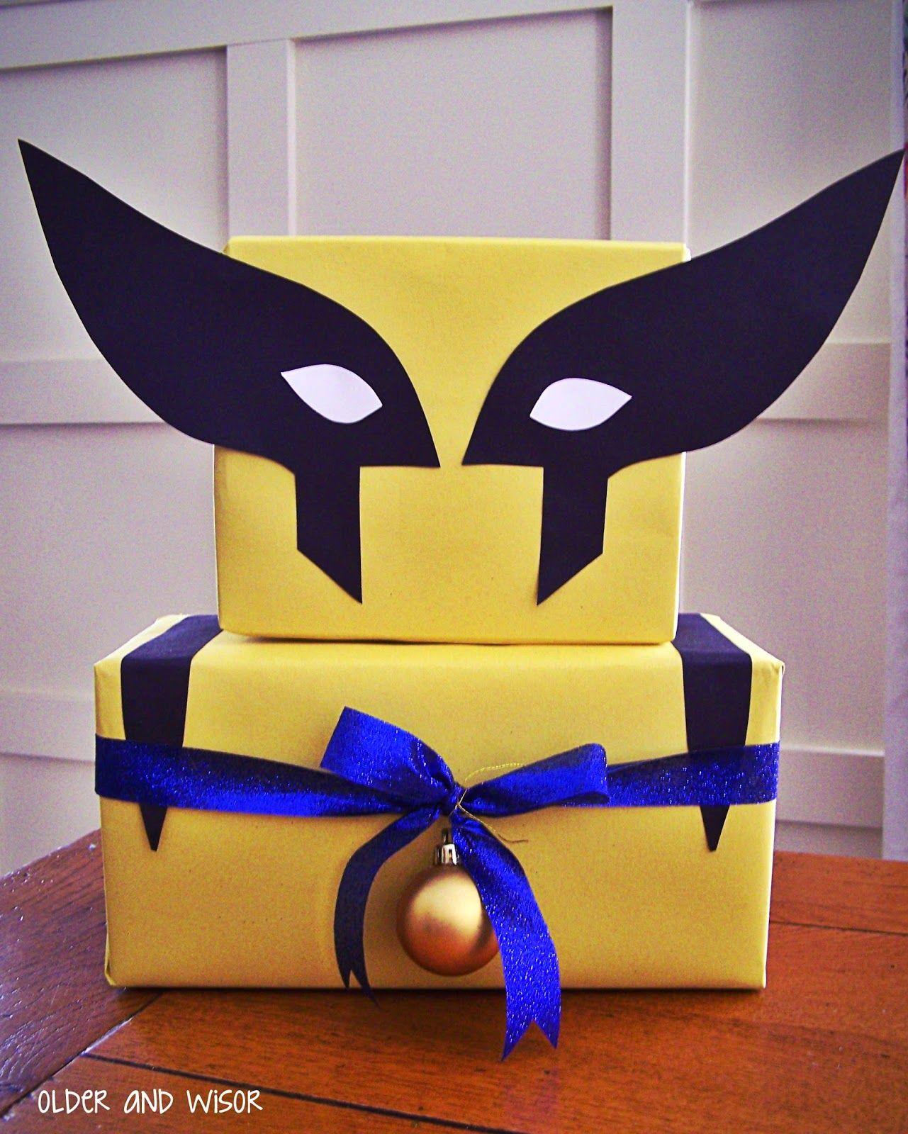 X-Men & Minecraft & Pokemon, Oh My! {Gift Wrap With