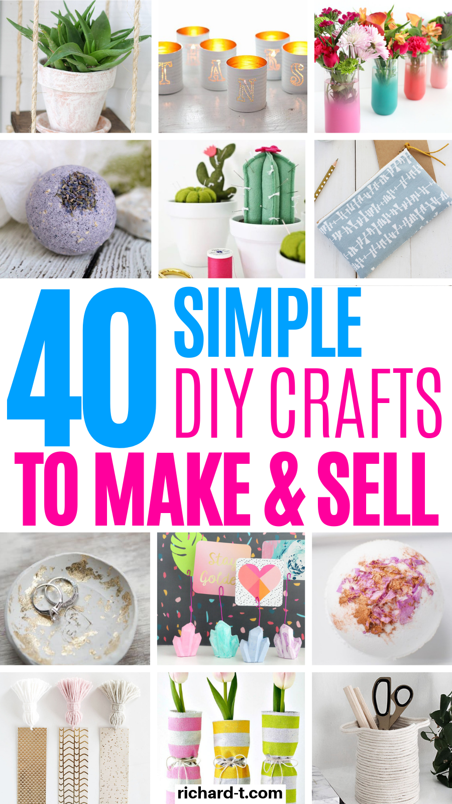 40 DIY Crafts To Make & Sell For Money #craftstomakeandsell