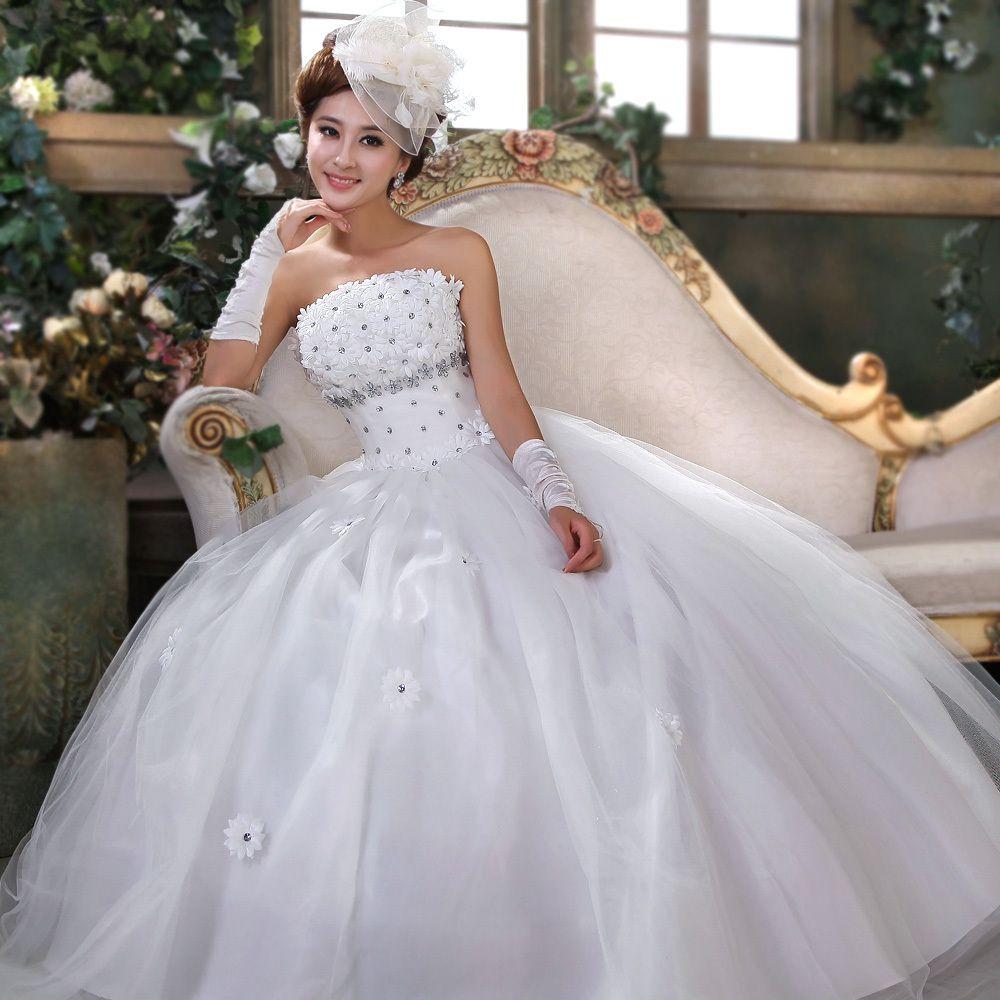 Bohemian Flower Bride Sweet Princess Wedding Dress