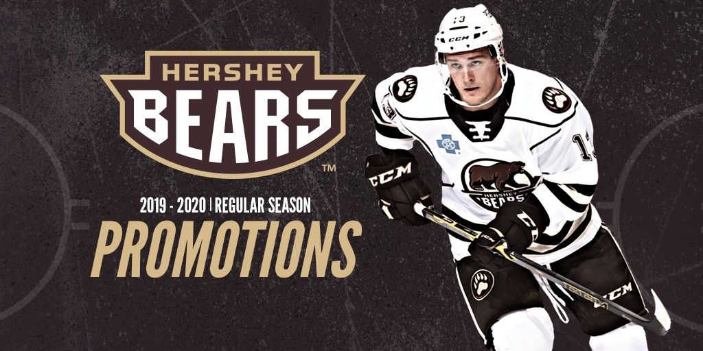 Hershey Bears Release 2019 20 Promo Schedule Hershey Bears American Hockey League Bear