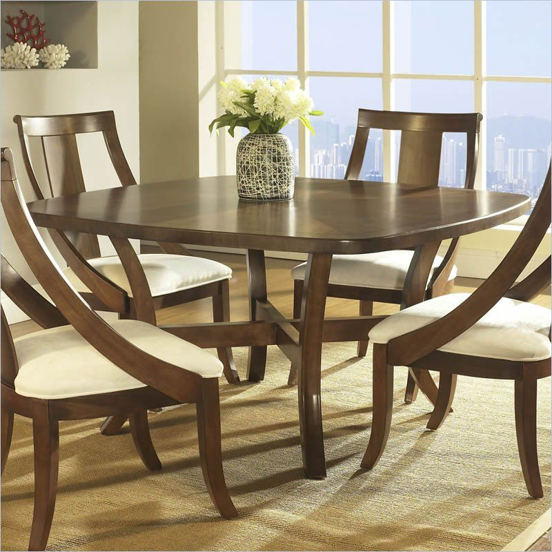 Somerton Dwelling Gatsby Dining Table In Medium Brown 422 61 Lowest Price Online On All
