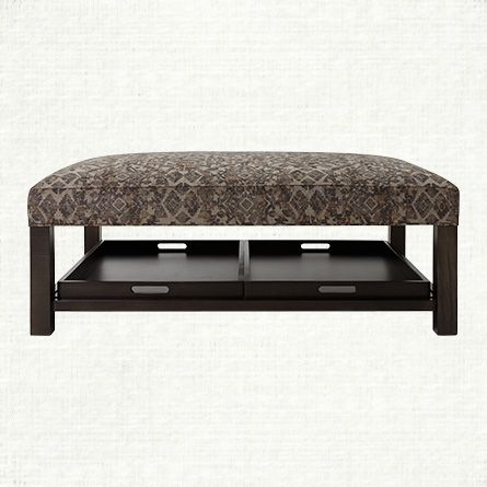 "butler 47"" upholstered rectangle ottoman in pima sable   arhaus"