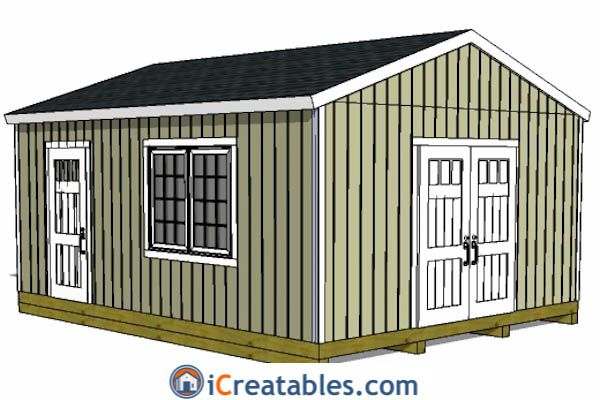 16x20 Gable Shed Plans Sheds Pinterest Shed Plans Shed And
