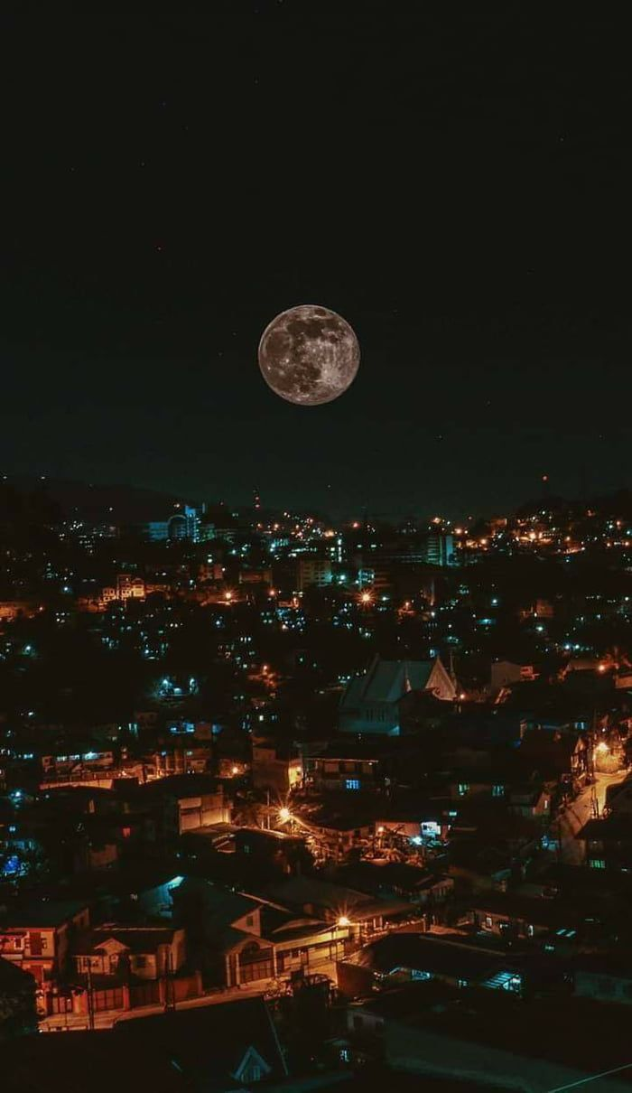 The moon as seen from Baguio City, Philippines.