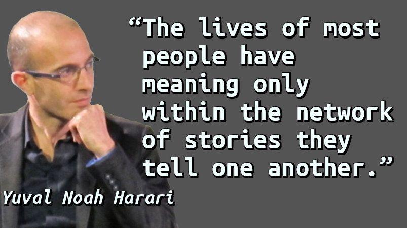 """Resultado de imagen para harari about stories"""""""