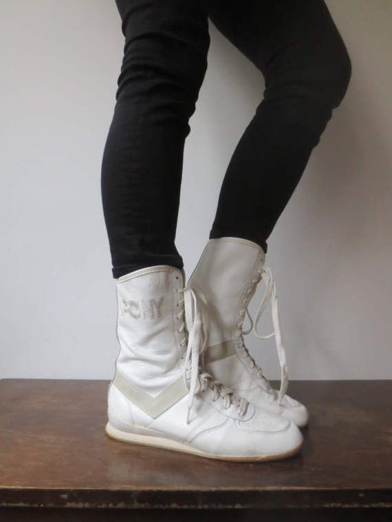 Vintage 70s80s Leather High Top Pony Sneakers Pony Wrestling