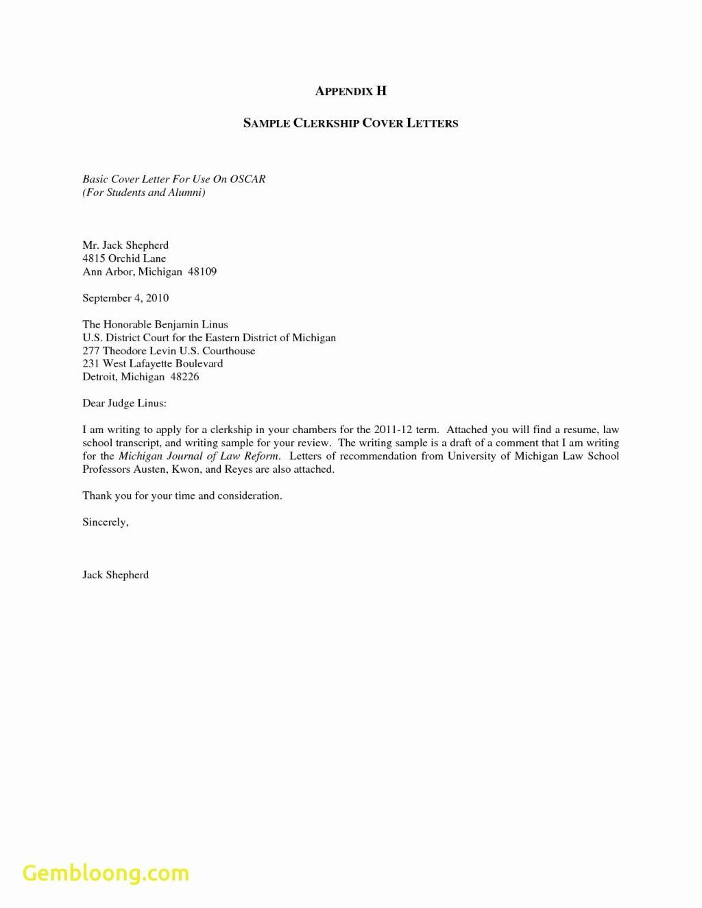 General Cover Letter Sample Pdf