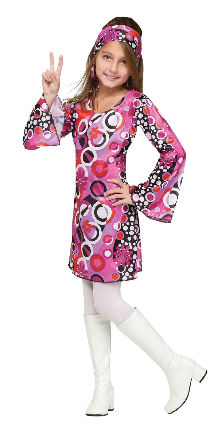 Kids Feelin Groovy Girls 70s Costume Disco Costumes - Mr ...