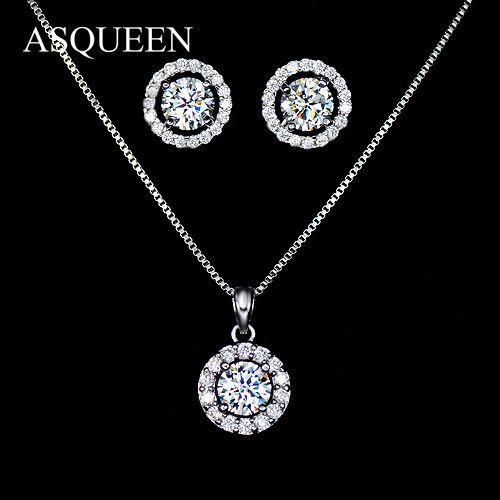 with the sterling price single best choker stud necklace diamond silver in bezel ct india halo pendant trumiracle gold aquamarine