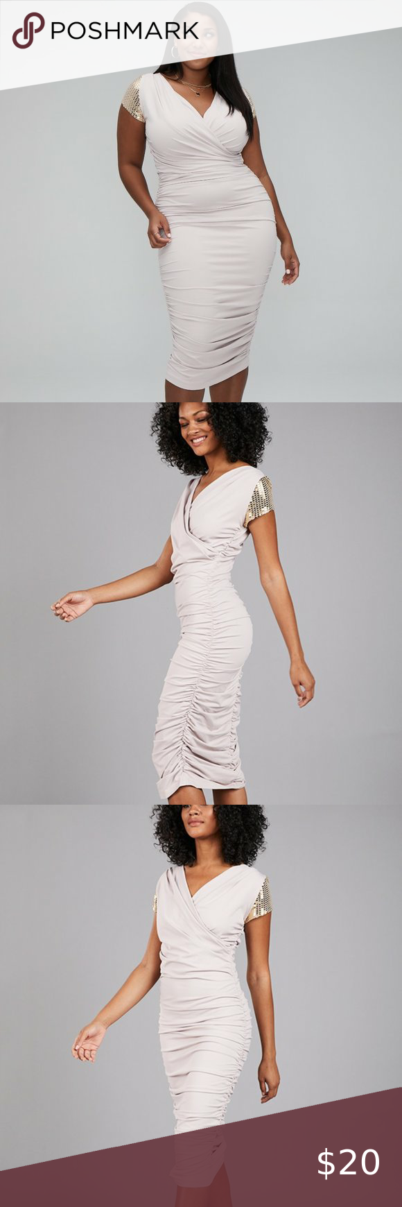 Spellbound Ruched Midi Dress in 2020 Ruched midi dress