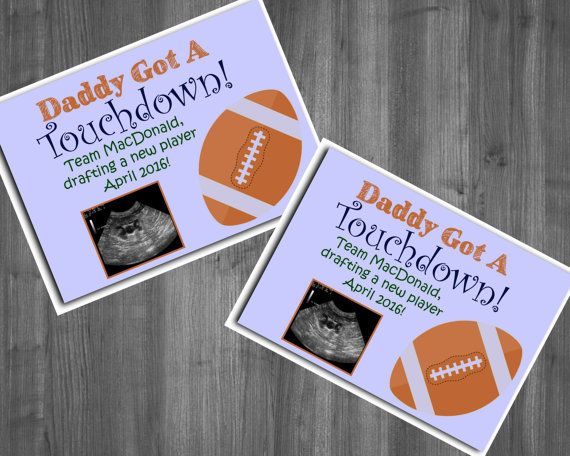 Fathers Day Birth announcement Sports Football by Raising3Cains – Football Birth Announcements
