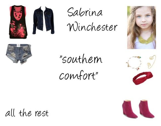 """""""Sabrina Winchester Worlds Colliding (Supernatural) 8.06 """"Southern Comfort"""""""" by mysticfalls1997 ❤ liked on Polyvore featuring Abercrombie & Fitch, WearAll, MiH Jeans, Emily Elizabeth Jewelry, Blee Inara and Cole Haan"""