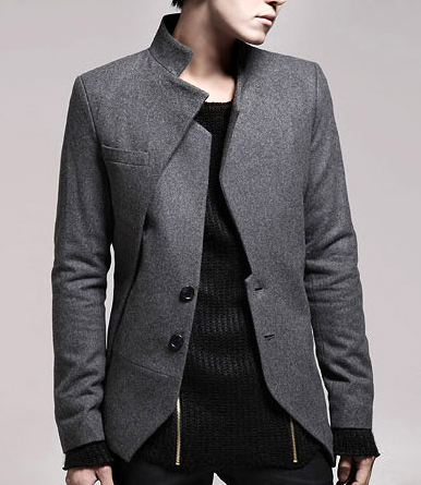 Cool Deep Grey Mens Fashion Sleek Blazer | OOTD Ideas | Pinterest ...