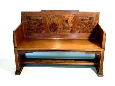 art deco walnut bench 1929