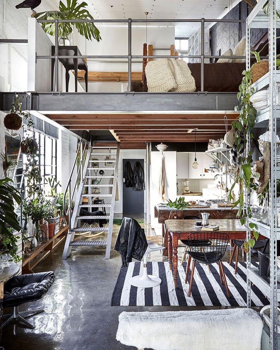 Deze kleine #loft komt echt tot leven! @bureauxsa #woontips ...