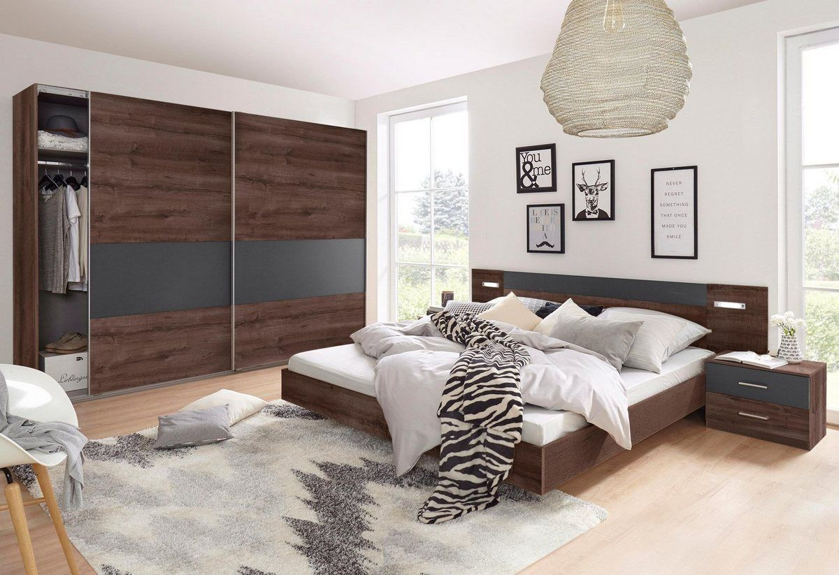 Schlafzimmer Set 4 Tlg. Set Kiefer Massiv Weiß Lava Kleinesschlafzimmer Schlafzimmer-set Angie (set 4-tlg) | Bedroom Furniture Design, Wimex, Furniture