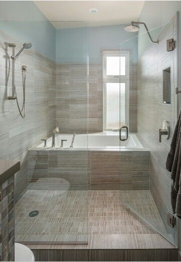 Wet Room Tub Inside The Shower Future Home Bathroom