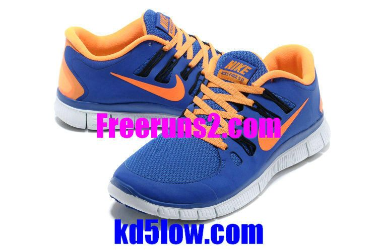 huge discount f6d1d fd3c8 Nike Free 5.0 Mens Deep Royal Blue Orange 579959 480 New Nike Free 5.0