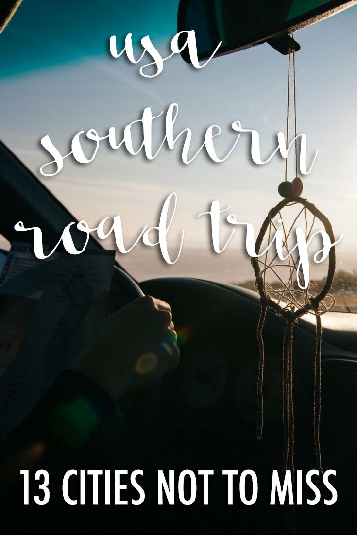A Southern USA Road Trip Cities To Visit Road Trips - Map of southeast usa with cities