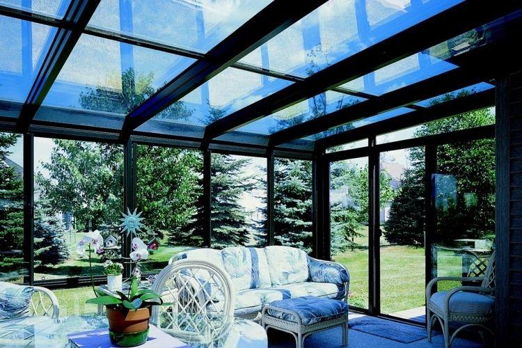 Toiture Transparente Pour Terrasse Fermée Cadre Aluminium Noir