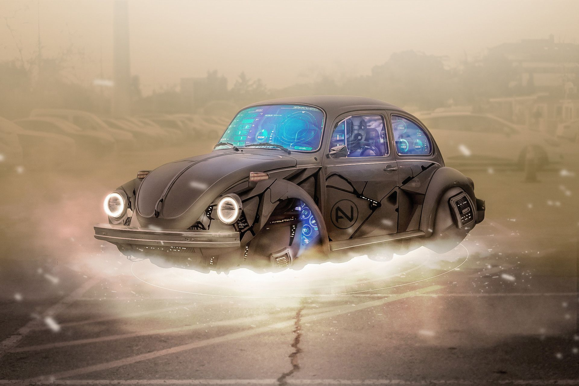 Old Car Cyberpunk By Nicolas Alvarez With Images Cyberpunk