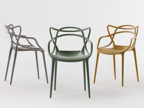 tre sedie masters grigio chiaro, oliva e senape   网页设计   Pinterest