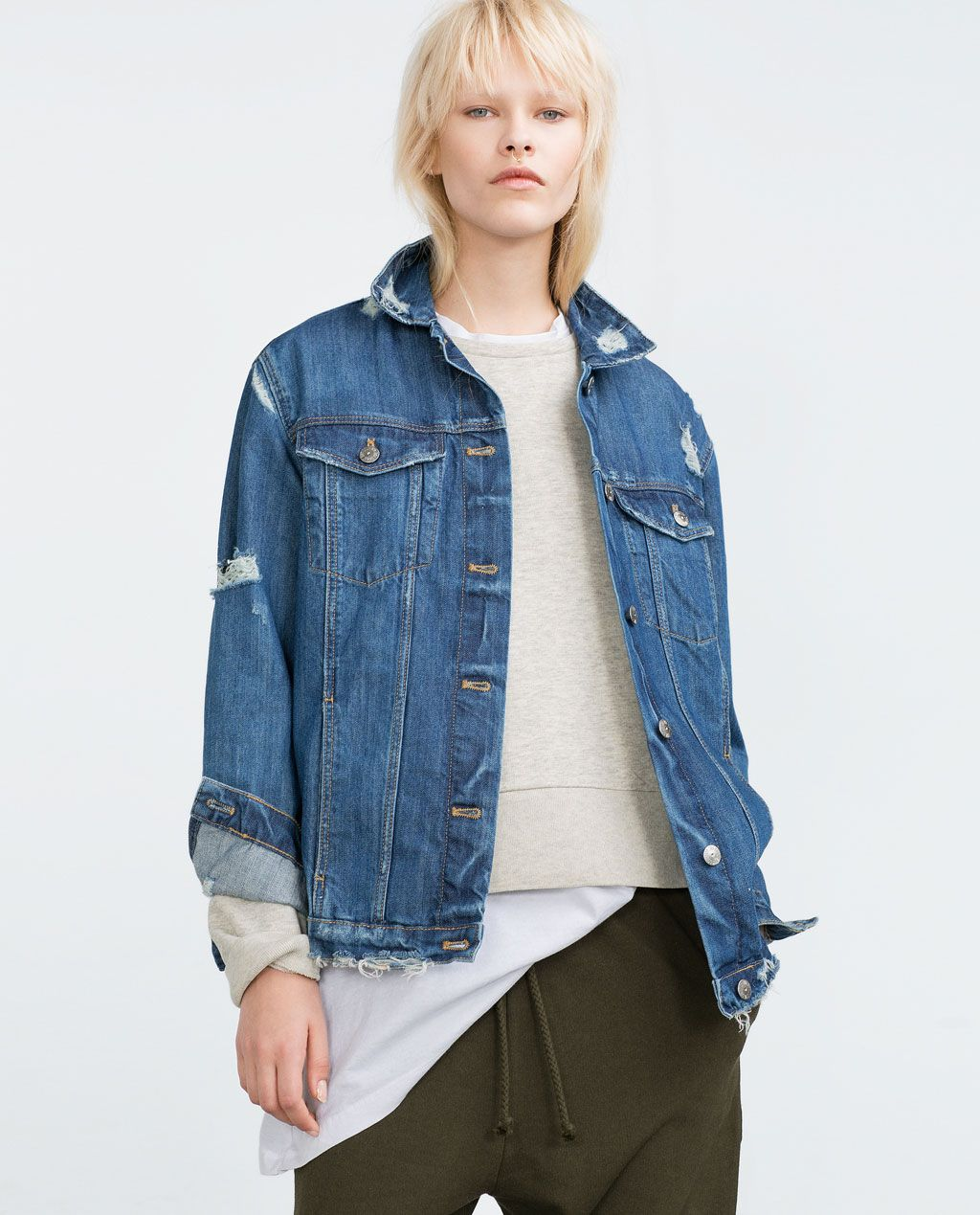 23a584f7fe3 OVERSIZE DENIM JACKET-Jackets-WOMAN