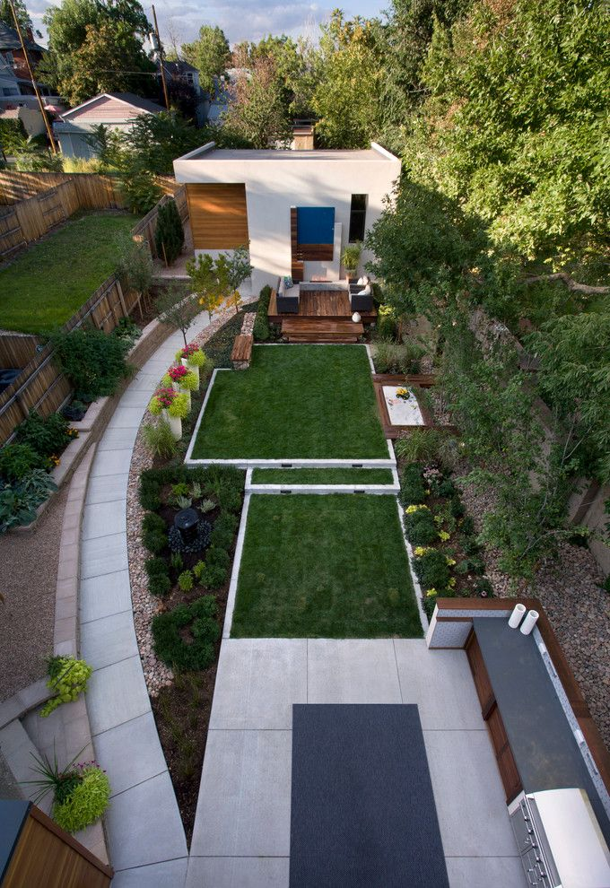 Garden Ideas Concrete Yard baroque backyards method denver contemporary landscape decorating