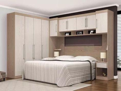 casal modulado 7 pçs armário cabeceira criado