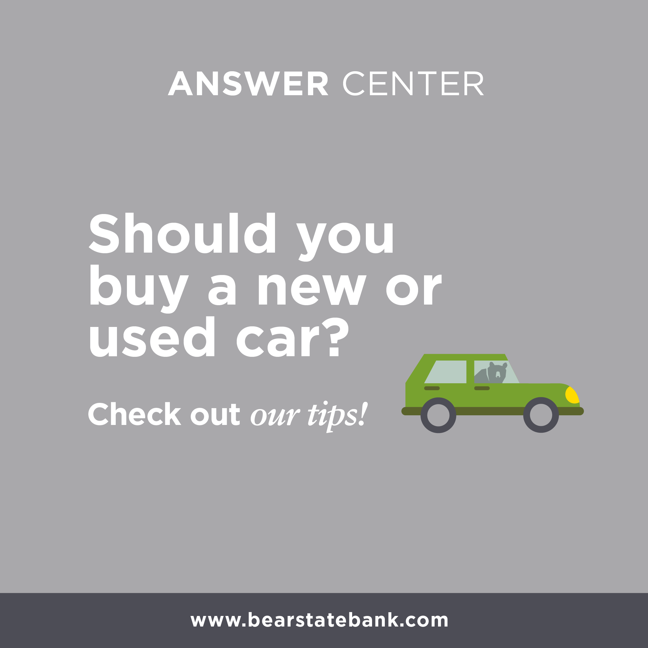 Should you buy a new or used car? Check out our tips on our website