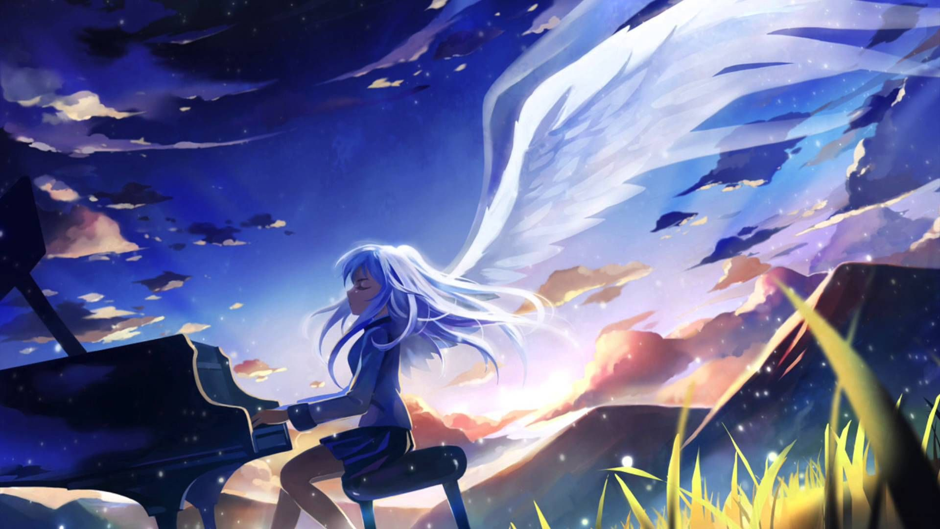 Awesome Anime Music Piano Mountains Wallpaper For Backgrounds